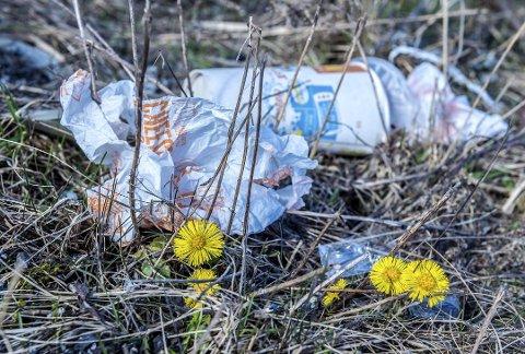 Ta deg gjerne tid til å plukke litt søppel, oppfordrer Redningsselskapet. Men husk å følge korona-smittevernreglene.