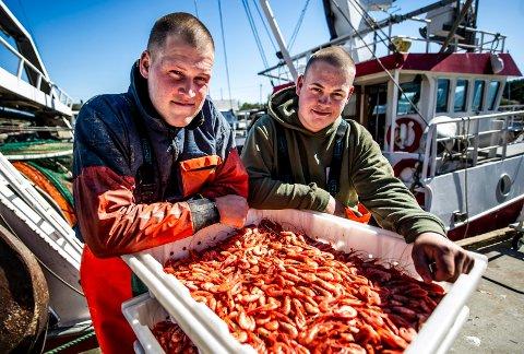 Brødrene Didrik (til høyre)  og Christoffer Pedersen fra Fredrikstad har investert i egen reketråler.