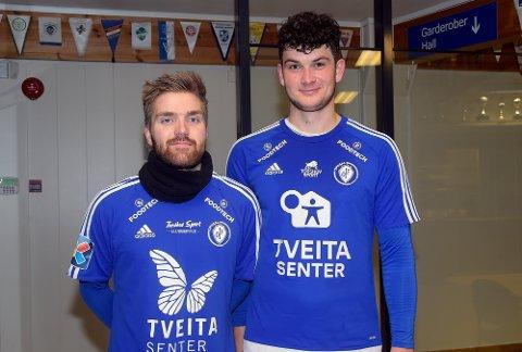 NYE: Thomas Kongerud (egne rekker) og Eirik Baugstø (Skedsmo) er begge ny for Oppsal denne sesongen. Håpet er å etablere seg i PostNord-ligaen denne sesongen.  PS. De resterende nye var ikke til stede.
