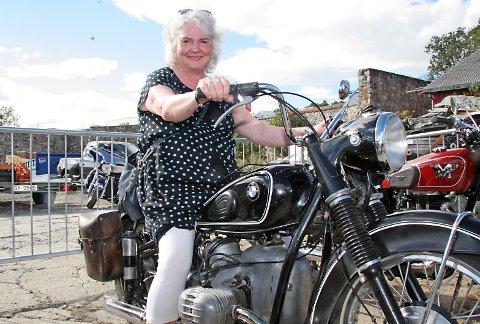 LANGVARIG KJÆRLIGHET: Lotta Halvorsen var 23 år da hun kjøpte sin første og eneste motorsykkel.