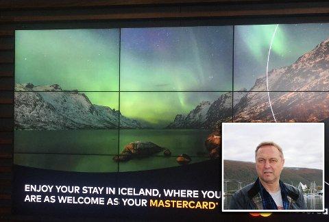 LITT FREKT: Raymond Martinsen bor i Ersfjord. Da han så at på reklameplakaten for Island ble illustrert med et bilde av hans eget nabolag reagerte han.