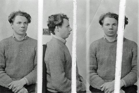 TILSTO SABOTASJE: Fengslingsbilde av Johannes Hallonen tatt i februar 1951.