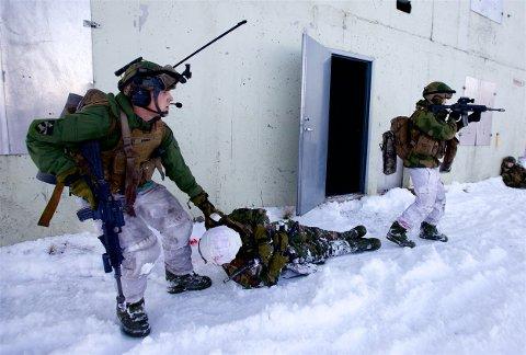 FORVENTER STORE TAP: Store tap er sannsynlige og nødvendige dersom norske hærstyrker skal slåss mot en russisk invasjonsstyrke, mener pensjonert sjef for Etterretningstjenesten, Kjell Grandhagen. Bildet er fra en øvelse i Mauken skytefelt. Foto: Ola Solvang