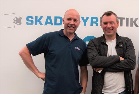 JUBILEUM: Geir Jæger (t.v.) og Tom Arild Jensen.