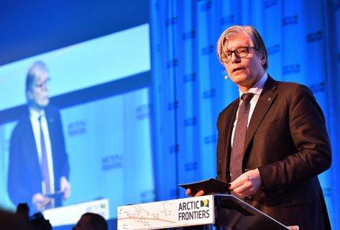 MISTET TIÅR: Ola Elvestuen, klima- og miljøminister i Norge under Arctic Frontiers. - Mange krefter har klart å skape tvil om vitenskapen.