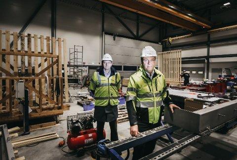BERGET: Her er Terje Bøe (til høyre), tidligere administrerende direktør i Rapp Bomek, sammen med styreleder og investor Bjørn Hesthamar.