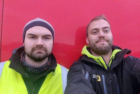 OPPTUR: Ante M. Gaup (t.v) og Robert Bruaseth (t.h) er to av 15 ansatte i bedriften.
