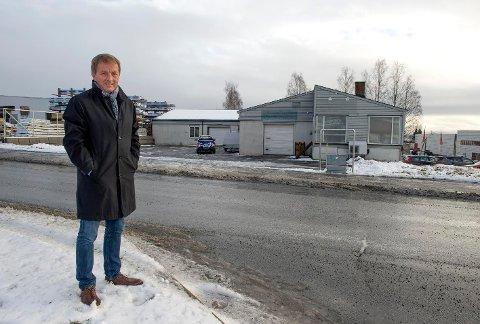RASK: Administrerende direktør Reinert Seljeskog i Tema Eiendom har satt i gang både reguleringsplan og byggesaksbehandling slik at det nye bygget raskt kan komme på plass i Ringvegen 16.