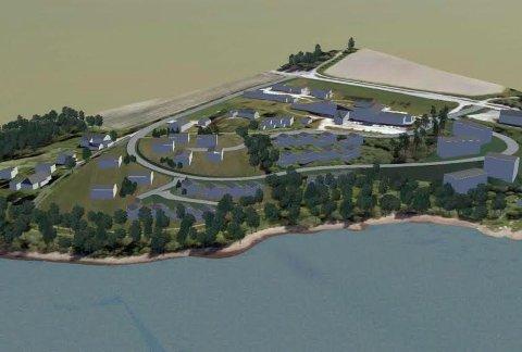 Slik framstår utbyggingsområdet i Smørvika i områdereguleringsplanen.