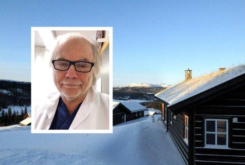 HYTTEFOLKET: Kommuneoverlege Per Einar Jahr i Nord-Aurdal er bekymret over smitten hytteturistene kan ha med seg.