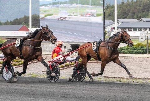 STOR TRIUMF: Always On Time inn til seier og banerekord i Bergen lørdag.