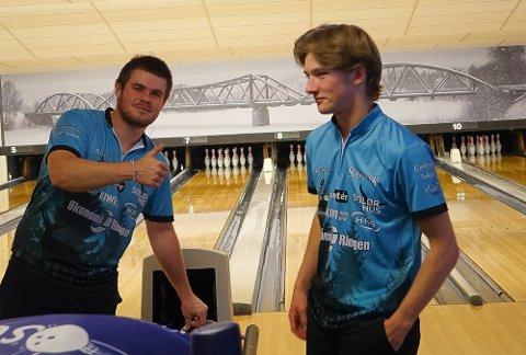 STERKT: Jonas Dammen, til venstre, tok NM-sølv, mens klubbkamerat Henrik Svartholt ble nummer 12 i sin første NM-finale.
