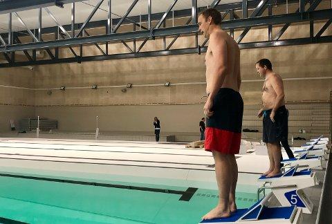 FØRST UT: Anders Rambekk og Robin Kåss.
