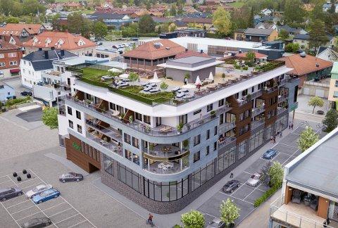 SALGET I GANG: Salget av leilighetene på Heiergården i Rakkestad sentrum er i full gang.