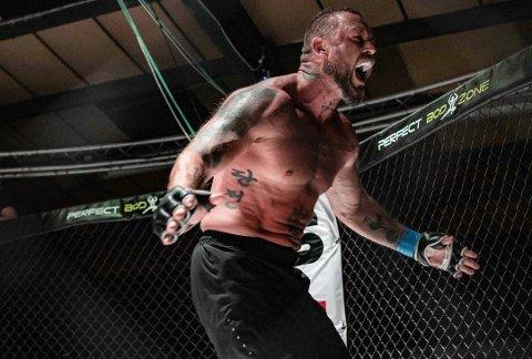 VANT: Kim Valhalla Johansen tok sin andre proffseier som MMA-utøver i helgen. Arkivfoto