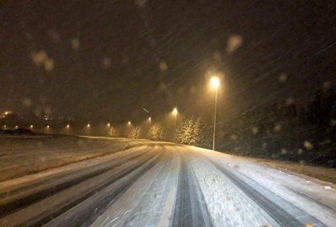 Utsatt frist: Slik kan veiene i Rakkestad se ut mandag dersom værvarslingen slår til.