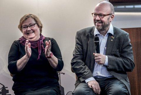 Rock'n roll: Ordfører Yvonne Stålnacke hadde sansen for ranaordfører Geir Waages invitasjon til samarbeid og rock'n roll.