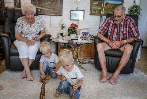 Else og Per Lysfjord har snart vært gift i 70 år.