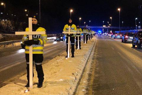 Trafikkofrenes dag markert på Hunstad i Bodø.