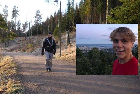 John Emil Gaup gikk blant annet seks ganger rundt Sognsvann for å nå 100.000 skritt. -  Jeg for der som en tulling med kamera, så folk måtte tro jeg var ganske gærn. Ellers gikk jeg ned til operaen og litt forskjellige steder mens jeg prøvde å filme det meste jeg gjorde.