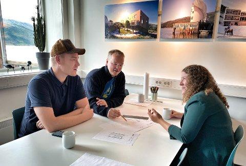 Ina Trælnes og Visit Plura har fått med seg lokale Tanken Arkitektur på laget, hvor Robin Söderkvist og Lars Kristian Sjøvold er i full gang med utviklingen av prosjektet.