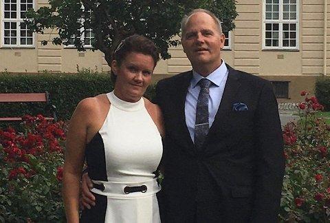 Ble sendt på direkten: Beate Susanne Murbræch og Finn Rune Haugen havnet ufrivillig i offentligheten da de skulle gifte seg i all hemmelighet i Trondheim.