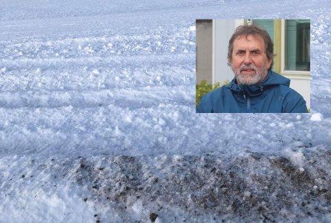 Leder i ACR, Øystein Bentzen (innfelt) har anmeldt hendelsen der skiløypene på ACR ble rasert.