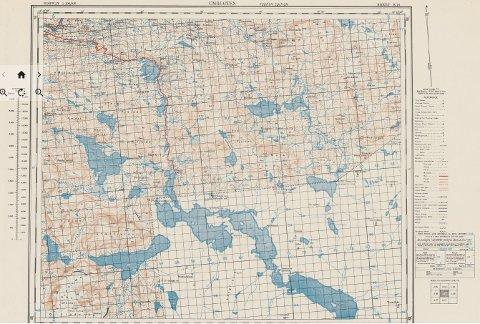 Kartet over Umbukta er bare ett av mange kart som britene brukte til å planlegge sine militære aksjoner i Norge under andre verdenskrig med.