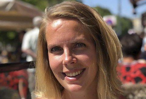 Favoritt: Elise Edvardsen liker solfylte dager på Sør-Mesna aller best.Foto: Privat