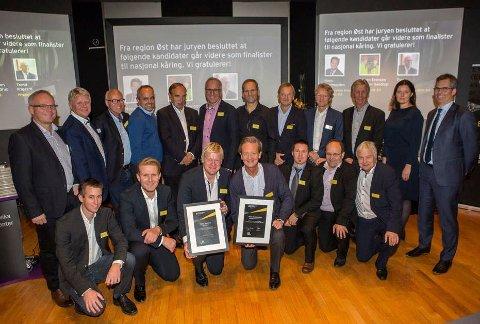 Alle kandidatene fra Østlandet samlet på regionsfinalen i Årets entreprenør 2016.
