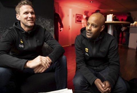 Planer: Signeringen av Frode Kippe (t.v.) blir ikke den siste sportssjef Simon Mesfin gjør før seriestart. Foto: Lisbeth Lund Andresen