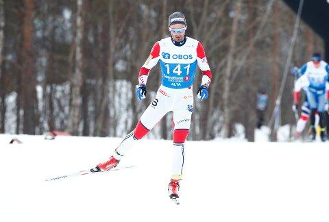 Alta  20180407. Hans Christer Holund under 50 km menn fri teknikk i Alta lørdag. Foto: Terje Pedersen / NTB scanpix