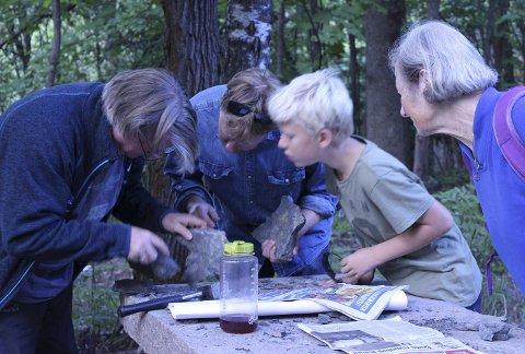 PÅ TUR: Jørn Hurum på fossiltur i Slemmestad, Foto: Jon Esteban Furøy