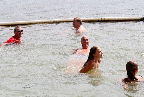 IKKE RENT: Stranda ble åpnet i juli i fjor, og siden den gang har vannkvaliteten vært dårlig.
