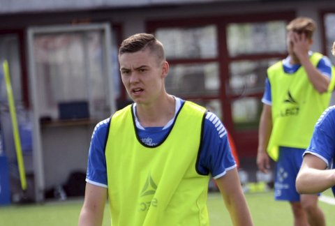 Finaleklar: Jørgen Strand Larsen er klar for cupfinalen for U19 i Italia.  Foto: Ole-Morten Rosted