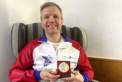 STORT: Trøgstingen Ole Andreas Skatvedt tok sitt sjuende individuelle VM-gull i hopp i Østerrike onsdag.