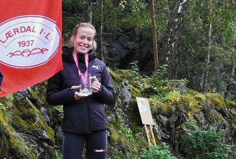 TIL TOPPS: Marita Hestetun vann Galdane Rundt med tida 40.42. – Det var kjekt å vera med i løp att.