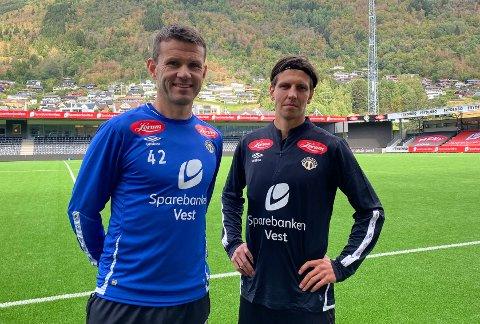 EIRIK OG EMIL: Emil Palsson (28) var Eirik Bakke sitt førsteval som erstattar for Sivert Mannsverk (19). Fredag gjekk overgangen for den islandske midtbanespelaren i boks.