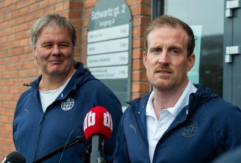 Bjørn Petter «BP» Ingebretsen og Håkon Wibe-Lund skal lede Strømsgodset sammen framover, som en midlertidig løsning.