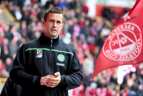 """Football - Aberdeen v Celtic - Ladbrokes Scottish Premiership - Pittodrie Stadium - 12/9/15 Celtic manager Ronny Deila Action Images via Reuters / Graham Stuart Livepic EDITORIAL USE ONLY. No use with unauthorized audio, video, data, fixture lists, club/league logos or """"live"""" services. Online in-match use limited to 45 images, no video emulation. No use in betting, games or single club/league/player publications.  Please contact your account representative for further details."""