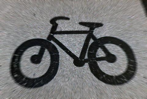 Sykkelvei oppmerket på asfalt. Foto: © Peter Mark / BAM / Samfoto