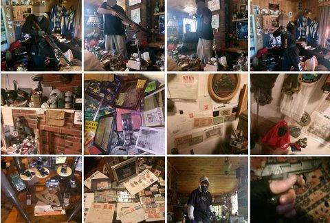På mannens facebookside har han lagt ut flere bilder der han poserer med forskjellige våpen. Disse bildene er lagt ut etter beslaget i juni. Foto: Skjermdump