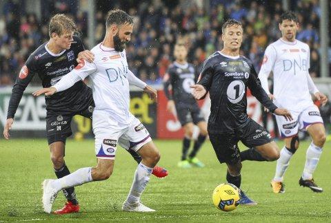 Uavgjort i år: Sondre Sørli (fra venstre), Jonas Rønningen og KBK spilte 1-1 hjemme mot Vålerenga i fjor.