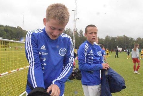 B-SLUTTSPILL: Filip Møkkelgjerd og Henrik Aasbø Kvande kjempet godt, men måtte innse at det ble tap mot Skodje.