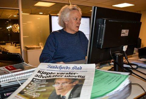 NOMINERT: Sandefjords Blad er blant 37 nominerte til Den store journalistprisen. Jan Roaldset har fortsatt oppfølgingsartikler om saken.
