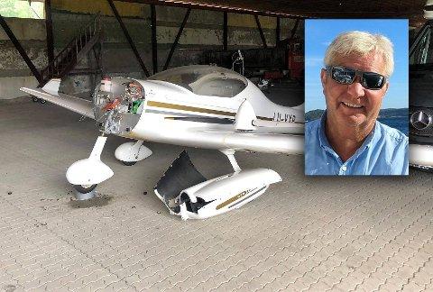 TYVERI: Per Halvor Rønningen fikk flymotoren frastjålet i garasjen ved Ruteig flyplass i Re.