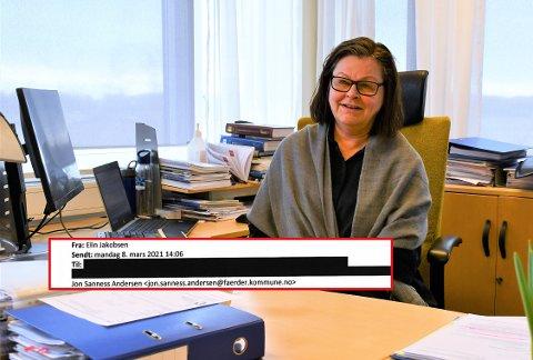 VIL IKKE SVARE: Kommunedirektør Toril Eeg vil ikke svare på hvor mange som ble kalt inn for vaksinering sammen med ordføreren for to uker siden.