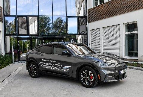 SUKSESS: Ford Mustang Mach-E testet er mest solgte bil i Norge i juni og juli.