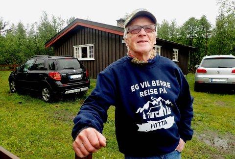Hyttevaldris: Forfattar og foredragshaldar Olav Norheim trivst best på hytta.
