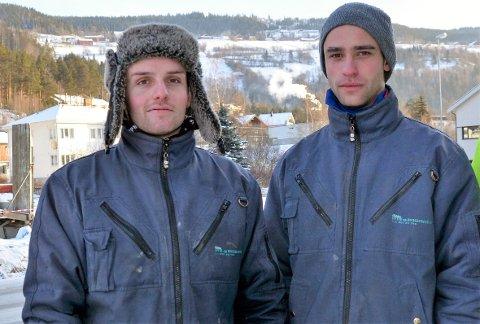 Nytt selskap: Valdres hytte- og byggservice AS med blant andre Bjørn Mikael Espelien (t.v.) og Joachim Sveen har blitt til Valdresgruppen AS.